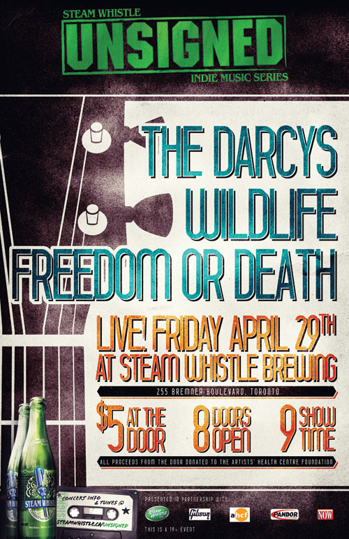 Poster from Steam Whistles Unsigned featuring the Darcys